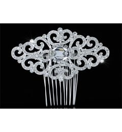 "Bridal Wedding Art Deco Vintage Swarovski Crystal Hair Comb ""Bonnie"""