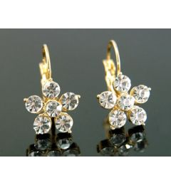 "Beautiful Gold Plated Flower Earrings ""Helen"""