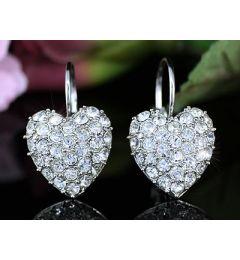 """Επίσημα Σκουλαρίκια με Swarovski Κρύσταλλα σε Σχήμα Καρδιάς """"Linzi"""""""