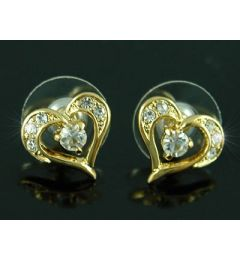 "Beautiful Gold Plated Swarovski Crystal Earrings ""Christianna"""