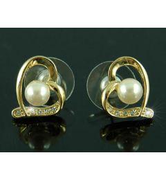 Επίσημα Σκουλαρίκια με 2 Καράτια CZ Κυβικά Ζιρκονία Μιμούμενο Διαμάντι σε Σχήμα Καρδιάς