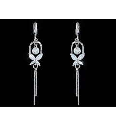 "Dangle Butterfly 1 Carat CZ Cubic Zirconia Earrings ""Greta"""