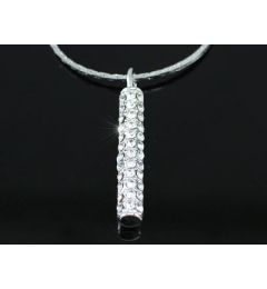 "Elegant Pendant 18K White Gold Plated Necklace with Swarovski Crystals ""Sally"""