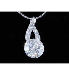 "3 Carat Round Cut CZ Simulated Diamond Pendant Necklace ""Calista"""