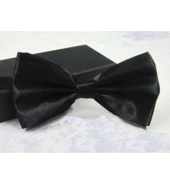 "Boys Black Satin Bow Tie ""Dimi"""