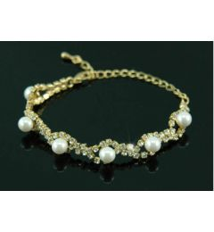 Bridal Wedding Wedding Cream Pearl & Crystal Bracelet