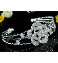 Silver Plated Crystal Bracelet with Butterfly, Sparkly Austrian Crystals
