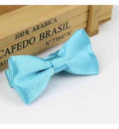 "Boys Sea Blue Satin Bow Tie ""Dimi"""