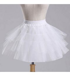 "Girls Pettiskirt Princess Tutu Skirt Party Ballet Dance Skirt in WHITE ""Hazel"""