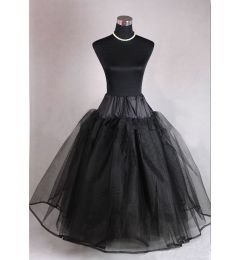 "Black Underskirt - Petticoat - Crinoline, Hoopless with Net Layers ""Tara"""