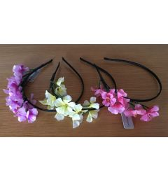 "Flower Headband for Bridesmaid, Party, Occasion in Pink, Lilac or Lemon Yellow ""Helen"""