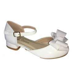 "Elegant White Girls Party Shoes With Heels ""Ioulita"""