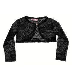 """Girls Lacy, Crochet Cardy in Black""""Kate"""""""