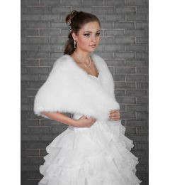 "Bridal Faux Fur Wrap in White ""Swan"""