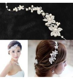 "Crystal Pearl Headpiece for Bride, Bridesmaid ""Natasha"""