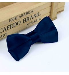 "Boys Navy Blue Satin Bow Tie ""Dimi"""