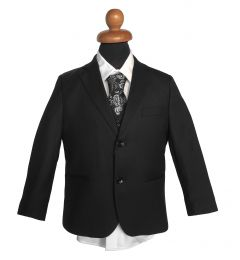 "Boys 5 Piece Suit in Black ""Oscar"""