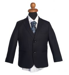 """Κοστούμι σε Σκούρο Μπλε - Μαύρο, Μαρέν για Αγόρι, Παραγαμπράκι """"Oscar"""""""