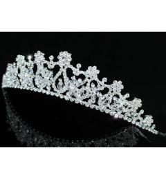 "Stunning Silver Plated Swarovski Crystal Bridal Tiara ""Joline"""