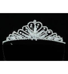 "Silver Plated Stunning Swarovski Crystal Bridal Tiara ""Ariel"""