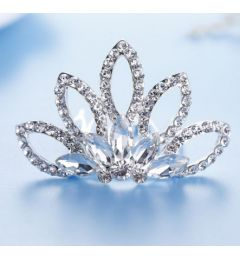 Silver Plated Mini Tiara Comb for Christening, Wedding