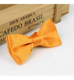 "Boys Orange Satin Bow Tie ""Dimi"""