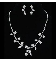 Bridal Jewellery Set Crystal Necklace & Earrings