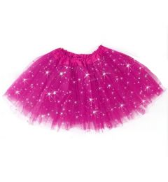 "Girls Pettiskirt Princess Tutu Skirt Party Ballet Dance Skirt in FUCHSIA ""Hazel"""