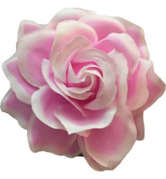 "Soft Pink White Rose Hair Flower, Broach, Clip ""Polyantha"""