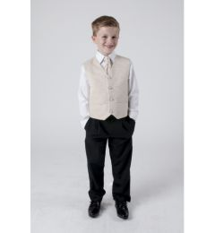 "Boys 4 Piece Suit in Beige Champagne Swirl ""Rocco"""