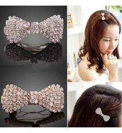 """Crystal Hair Bow Clip """"Shannon"""""""