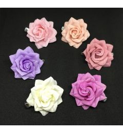 "Small Hair Flower Clip in Different Colours ""Zeta"""