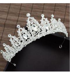 Silver Plated Stunning Crystal Bridal Tiara