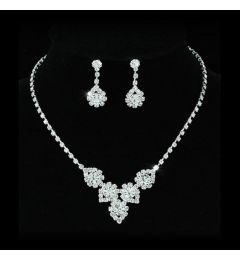 "Bridal Jewellery Set Crystal Necklace & Earrings ""Lauren"""