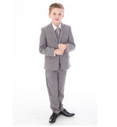 "Boys 5 Piece Suit in Grey ""Freddie"""