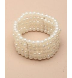 "Pearl Corsage, Bracelet in Ivory for Bride, Bridesmaid ""Etta"""