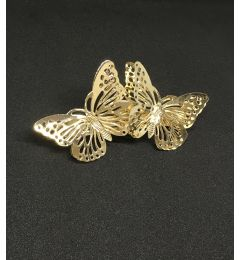 "Butterfly Gold Barrette Clip ""Susie"""