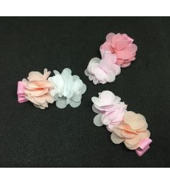 "Small Twin Hair Flower Clip in Different Colours ""Sammi"""