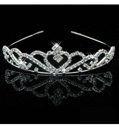 "Silver Tiara for Girl Child Silver Crystal Tiara  ""Isabella"""