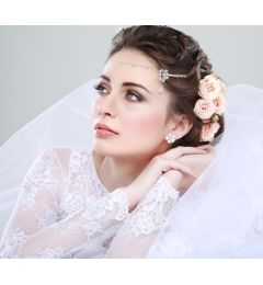 "Beautiful Hair Accessory with Crystals ""Nefetiti"""