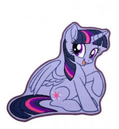 My Little Pony Twilight Sparkle Shaped Bedroom Rug