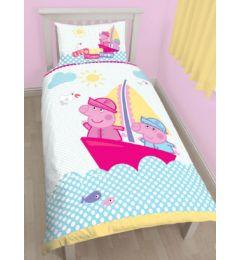 "Peppa Pig Single Cotton Duvet Cover Set ""Nautical"""