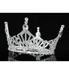 "Gorgeous Silver Plated Swarovski Crystal Crown ""Jubilee"""