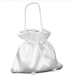 Wedding - Bridesmaid - Flowergirl, Party, Dolly Bag, in WHITE