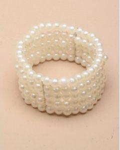 "Pearl Corsage, Bracelet in Ivory for Bride, Bridesmaid ""Etta"""