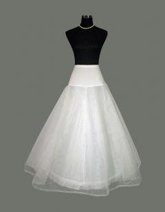 Φουρό Μεσοφόρι σε Λευκό Για Α-Γραμμή Φόρεμα με 1 στεφάνι