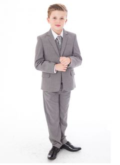 "Boys 5 Piece Suit in Grey ""Freddie"""
