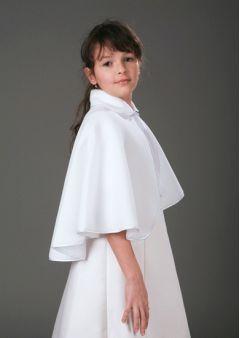 """Bridesmaid Soft, Warm, Fleece Cape in White """"Liana"""""""