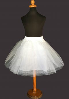"Girls Underskirt, Petticoat, 45 cm Length in WHITE ""Darcy"""