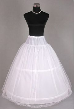 2 Hoop Underskirt - Petticoat - Crinoline with Net Layer